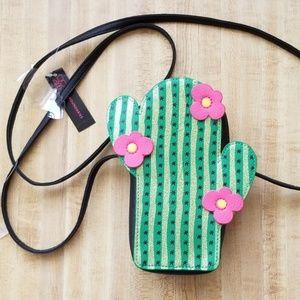Cactus Crossbody Wallet Bag NWT